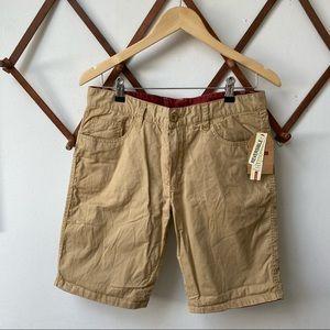 NWT Bench Reversible Red Tan Shorts